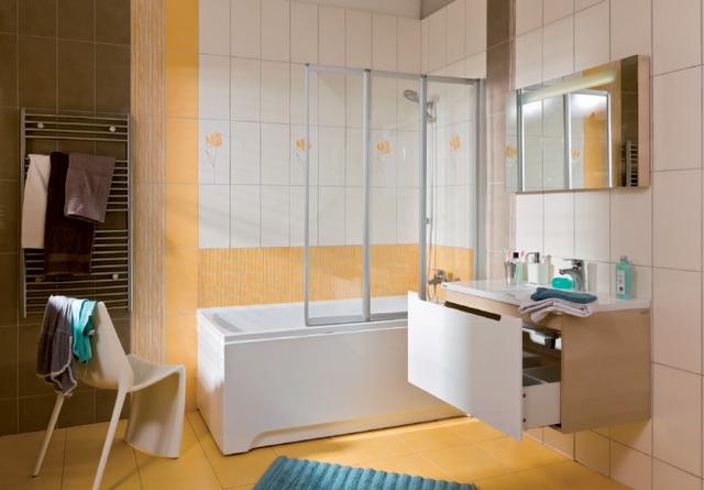 Inspiration pour les salles de bains moyennes ravak a s - Paravent de baignoire ...